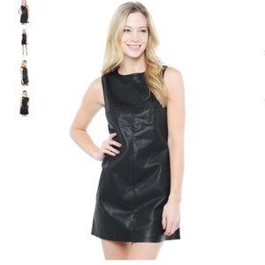 BB DAKOTA Woman's Marius Shift Leather Dress
